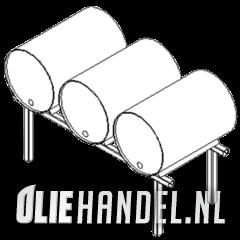 Vatenbok t.b.v. 3x60L drum  gegalvaniseerd