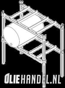 Vatenbok stalpelbaar  per rek 2x60L  gegalvaniseerd