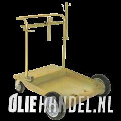 Drumdolly 'Heavy Dutch' 200L 4 wiels grote uitvoering
